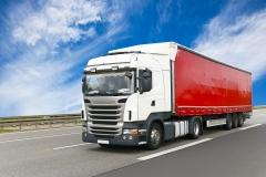 Gterverkehr auf der Strasse per LKW // truck on highway - shipping
